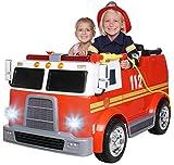 Actionbikes Motors Kinder Elektroauto Feuerwehr LL911 - 2 x 45 Watt Motor - Eva Vollgummireifen - Fernbedienung 2,4 GH