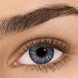 Sehr stark deckende natürliche Kontaktlinsen farbig,farbige Monatslinsen aus Silikon Hydrogel(HEMA),Weiche Kontaktlinsen mit großen Augenfarben Vergrößern Sie,1 Paar (2 Stück),DIA 14.00,ohne Stärke