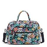 Vera Bradley Damen Signature Cotton Weekender Travel Bag Reisetasche, Happy Blooms, Einheitsgröße
