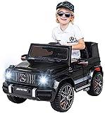 Actionbikes Motors Kinder Elektroauto Mercedes Benz Amg G63 W463 - Lizenziert - 2,4 Ghz Fernbedienung - Ledersitz - Elektro Auto für Kinder ab 3 Jahre (Schwarz)