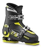 Roces Kinder Skischuhe Idea Up Größenverstellbar, Black-Lime, 30/35, 450491-018