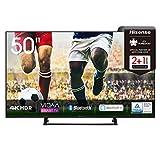 Hisense 50AE7200F 126 cm (50 Zoll) Fernseher (4K Ultra HD, HDR, Triple Tuner DVB-C/ S/ S2/ T/ T2, Smart-TV, Mittelstandfuß, Frameless, Bluetooth, Alexa)