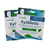 OraCoat XyliMelts - 80 Haft-Tabletten gegen Karies und Mundtrockenheit - Diskret - Im Schlaf verwendbar - VEGAN - Milde Minze
