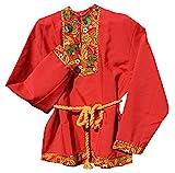 Russisches Hemd Kosakenhemd Kosaken Kostüm Hochloma Rot (XL)