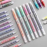 EastVita Doppelkopf-Marker, mehrfarbig, Wasserbasis, Handmalerei-Stift, Schreibwaren, Bürobedarf, B06, Seegrün, 15 cm