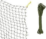 Trixie 44295 Schutznetz, drahtverstärkt, 8 × 3 m, olivgrü
