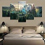 Mxsnow 5 Leinwanddrucke Rahmen Wandbilder Hd Ation Leinwandbilder Malerei Demon Hunter Spiel Bilder Drucke Poster Für Wohnzimmer Drucke Auf Leinwand