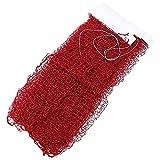 Badminton Net Hot Deluxe Badminton Net Strapazierfähiges, tragbares Netz für das Training von Indoor-Outdoor-Sportarten (Farbe : Rot)