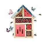 BEBEKULA Schmetterlingshaus aus Holz, zum Aufhängen, für Florfliegen / Masonbienen / Solitärwohnungen
