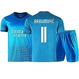 JYF Fußballtrikot Fußballtrikot # 11# 21 Zlatan Ibrahimović Atmungsaktives Sweatshirt-T-Shirt Für Herren Geschenke Für Freunde Und Familie (Color : C, Size : L)