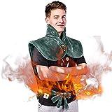 ZYFWBDZ Elektrische Heizkissen, Heizkissen für Rücken und Schulter, mit 3 Wärmeeinstellungen, großem Heizschalhals und Rückenheizkissen,Grün