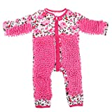 FLAMEER Lustiger Baby Kleidung Wischmop wischen Boden Strampler Overall Jumpsuit zum Krabbeln - Rosa, 85 cm