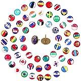 100 Stücke Kreativ Dekorative Reißzwecke, Flagge Reißnagel, Kreative Push Pins, Reißnägel, Wird Verwendet, um Papier auf Korkkarton zu Fixieren Oder Land auf der Weltkarte zu Markieren