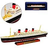 Atlas RMS Queen Mary Luxusdamper Schiff Kreuzfahrt 1/1250 Schiff Modell