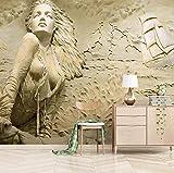 3d Tapete Geprägte Frau Fototapete Abstrakt Vlies Wand Tapete Wandbilder Wohnzimmer Schlafzimmer Kinderzimmer Dekoration Moderne Wanddeko,350x245 cm