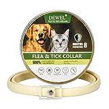 DEWEL 1st 63.5cm Zecken Halsband für Kleine Hunde und Katzen,8 Monate Kontrolle Schutz und Verstellbar Größe Zeckenhalsband