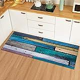 OPLJ Moderne Küchenmatte Fußmatte Teppich für Wohnzimmer Flur Dekoration Boden Anti-Rutsch-Matten Schlafzimmer Teppich A10 60x180