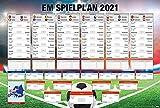 Close Up Fußball EM Spielplan 2021   Mit Allen Gruppen und Spielen   XL-Poster (101,5 x 68,5 cm)   Die Europameisterschaft im Überblick!