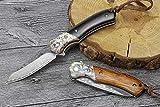 Klappmesser Einhandmesser mit Outdoor Taschenmesser mit Gürtelclip, Locking-Liner-Arretierung, Extra Scharf pocket knife Erwachsene