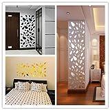 Meclelin 12 Stück Spiegel Wandaufkleber Wandsticker Wandtatoo Spiegel Wanddeko Wandkunst Selbstklebend Abnehmbar für Schlafzimmer Wohnzimmer Haus Deko (Gold)