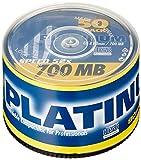 PLATINUM CD-R 700 MB CD-Rohlinge 52x Speed, 80 Min, 50er Spindel
