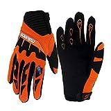 Gtopart 50 g MTB-Handschuhe für Kinder, zum Skateboarden, Klettern, Fitness (Licht, Luft), Orange, XS.