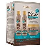 Kativa Set mit Shampoo, Conditioner und Maske Postalisado, ohne Salze, 3 Flaschen à 250 ml, Gesamtmenge: 750