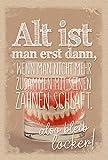 KE Geburtstags-Karte für den Mann - Glückwunsch-Karte mit Umschlag - Männer Gruß-Karte - Klapp-Karte mit lustigem Spruch - DIN B6 - Motiv: Gebiss