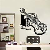 Bunte E-Gitarre Wandaufkleber Dekoration für Kinderzimmer Dekor Wasserdicht Wohnzimmer Wandkunst Aufkleber Dekoration A8 57x57