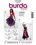Burda 2514 Schnittmuster KostŸm Fasching Karneval Carmen & Zigeunerin (Damen, Gr, 36-48) Level 2 leicht