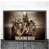 chtshjdtb The Walking Dead Tv-Kunstplakat Leinwand Malerei Wandbilder Wohnzimmer Wohnkultur Geschenke Drucken Auf Leinwand-50X70Cm Ohne Rahmen