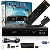 HD-LINE HDMI Receiver Satellit HD Digitaler Satelliten Receiver HDMI DVB S2 Receiver für Sat HD HDMI Sat Receiver HDMI HD Receiver Sat Digital für Satelliten Resiver für TV DVB-S, Mit PVR Schw