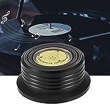 Zwindy LP-Schallplattenklemme Schallplattenklemme, Schallplattenstabilisator, Schallplatten-Plattenspieler Plattenspieler-Plattenklemme für Plattenspieler Eliminierung von Vibrationen(Black)