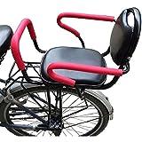 SADWF Kinderfahrradsitz, Fahrrad Kindersicherheit Rücksitze, Sicherheitsträger Universal Fahrradträger Gepäckträger Baby Kleinkindsitz mit Rückenlehne Fußpedale für Kinder 2-8 Jahre Alt