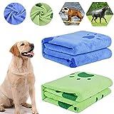 bangminda Hundehandtuch, 2 Pack Großer Weich Hunde Handtuch, Microfiber Schnelltrocknend Warm Haustierhandtuch Hunde-Badehandtuch für Hunde Katzen 140 x 70