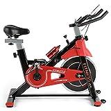 Fitnessclub Heimtrainer Fahrrad Spinning Bikes mit 12KG Schwungrad, Indoor Cycling Bike mit einstellbarem Widerstand, Fitnessbike mit Herzfrequenzsensoren, LCD und Getränkehalter inkl. Wasserflasche