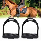 Pssopp 2Pcs Steigbügel für Sattel Sicherheits Steigbügel mit Rutschfester Gummiauflage für den Pferdesport(S)