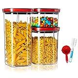 MaxMiuly Vorratsdosen Set, Müsli Schüttdose BPA frei Kunststoff, Frischhaltedosen Luftdicht Mit Deckel, Satz mit 3, Vorratsbehälter für Reis, Getreide, Zucker, Cornflakes, Mehl