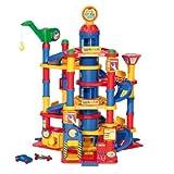 Wader 37848 7-stöckiger Park-Tower Parkhaus Spielgarage mit Autos