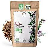 ORIGEENS BIO TULSI 100g   Indisches Basilikum, getrocknete Blätter   Bio Tulsi Tee lose ohne Teein, Anti-Stress Tee und Ayurveda tee   In Deutschland zertifiziert und verpackt