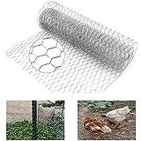 N\Y Maschendrahtzaun, 400 x 40 cm, leicht, verzinkt, sechseckig, Gartenzaun, Tierbarriere, Hühnerdraht mit Handwerk für Haustier, Kaninchen, Huhn