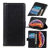 Telefon Flip Fall Flip-Hülle für Xiaomi MI POCO X3 NFC, für Xiaomi Poco X3 Pro Wallet Fall, Premium PU-Leder Kickstand-Kartensteckplätze Magnetischer Schließung Stoßfest Schutzhülle ( Color : Black )