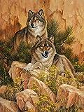 QRKJ 4000 Stück hölzernes Tierpuzzle für Erwachsene - Freudiger Wolf - Erwachsene Holzpuzzle Freizeit Kreative Puzzlespiele Kunstspielzeug Puzzles