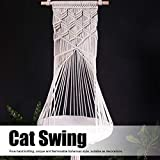 Denkerm Katzenschaukel, Baumwollseil Katzenspielzeug Katzenbett Katzenhaus Handstricken Heimtierbedarf für Katzen, die für Indoor für Hausgartendekoration ruhen