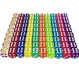 100 Stück,Würfel Set,6 Seitige Würfel Set Spielwürfel Bunt,Würfelspiele Tischspiele,würfel Set bunt,Farben Würfel Set.