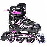 Inline-Skates für Erwachsene - Skates mit Einstellbarer Größe für Anfänger Spezielle Speed-Skates für Jungen, Mädchen, Anfänger, Kinder, Teenager, Erwachsene, Speed-Skates