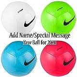 Personalisierbare Fußball-/Fußballbälle, Euro 2020, Name oder kurze Nachricht hinzufügen (weiß)