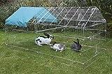 Kerbl Freilaufgehege, verzinkt, mit Sonnenschutz, 220x103x103