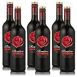 6 Flaschen Rosiere Rouge Rotwein, süss und fruchtig Weinpaket (6 x 0,75 l)