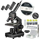 National Geographic Mikroskop Set 40x-1024x für Kinder und Erwachsene mit Auflicht-/Durchlichtfunktion und USB Kamera und umfangreichem Zubehör inklusive praktischem Transportkoffer